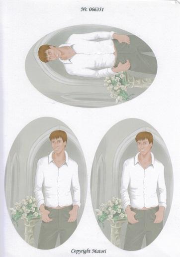 3D ark Konfirmation. Dreng, hvid skjortegrå bukser