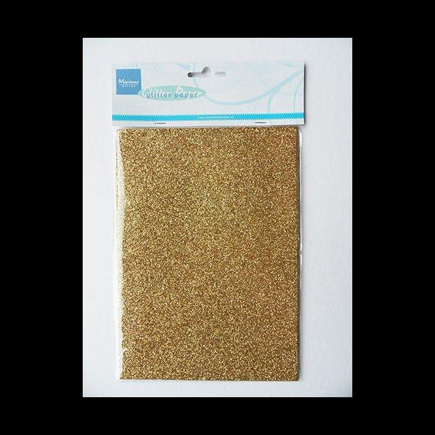 791752077 Glitter karton, A5, 14,8x21cm, guld, 5 ark