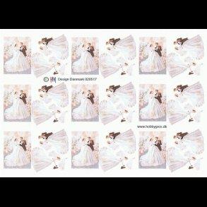 bordkort bryllup lilla