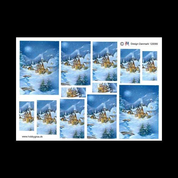 3D Pyramideark, landskab, jul