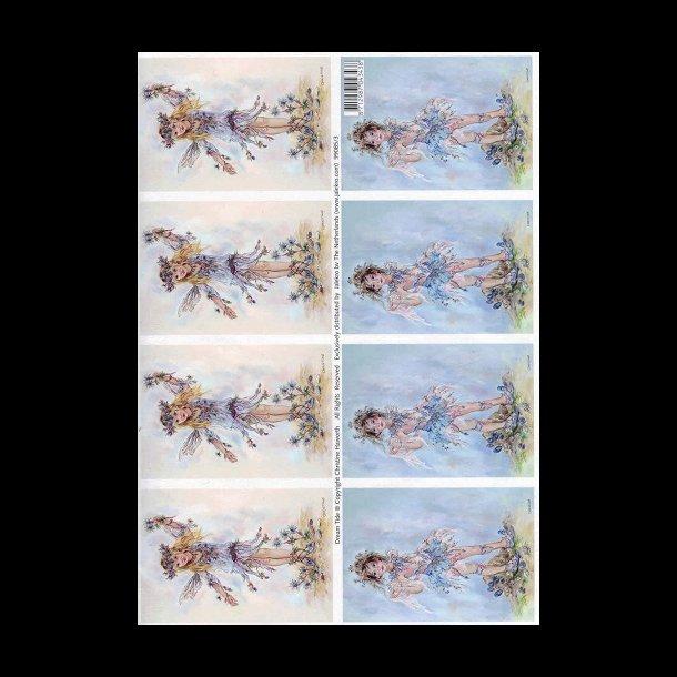 3D ark - Alfer, pige, dreng, blå, hvid
